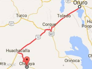 Ruta Oruro-Chipaya.