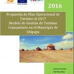 Propuesta de Plan Operacional de Turismo al 2017 Modelo de Gestión de Turismo Comunitario en el Municipio de Chipaya