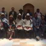 Delegación universitaria en Chipaya